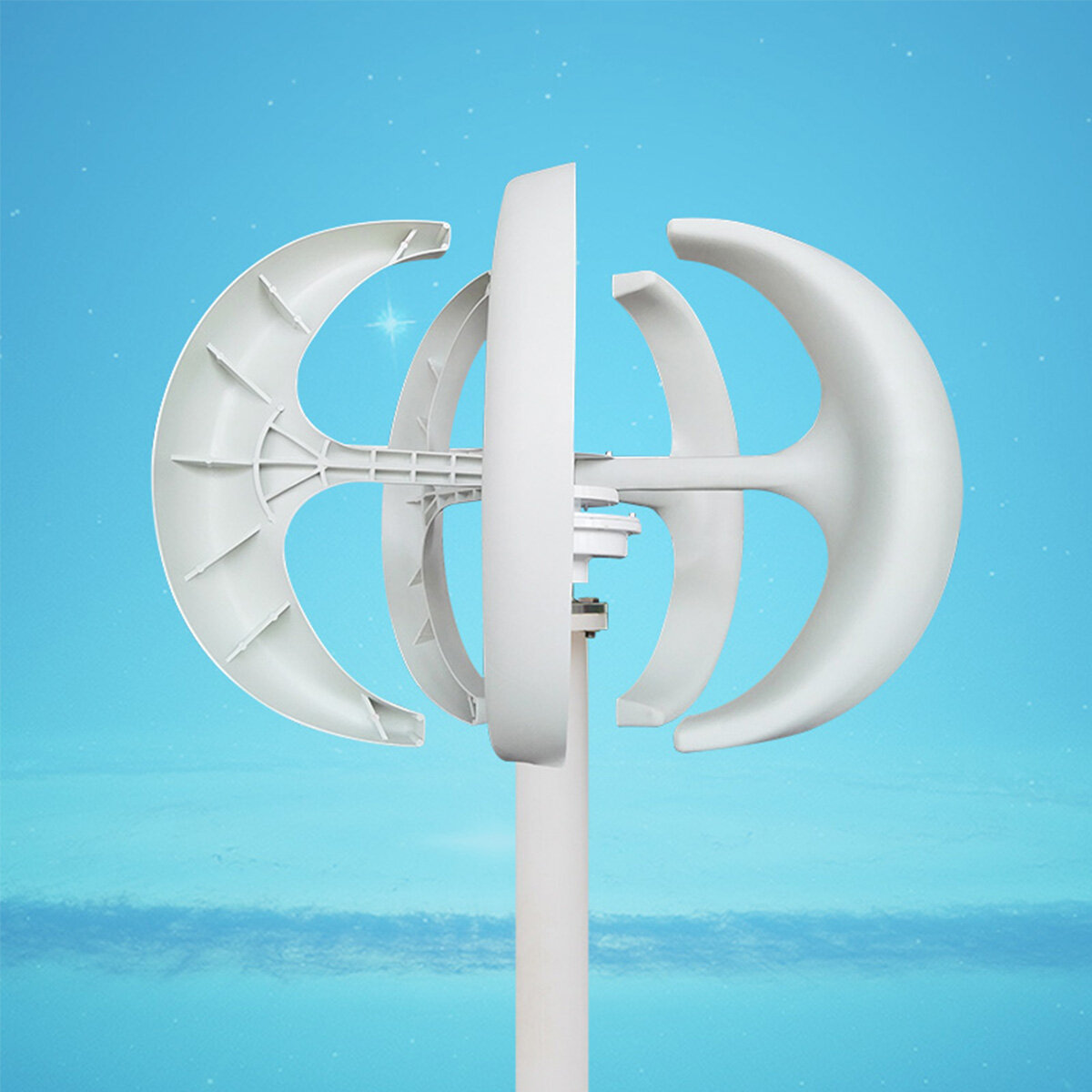 800W 12V/24V 5 Blades Permanent Magnet Wind Turbine Generator with Charge Controller