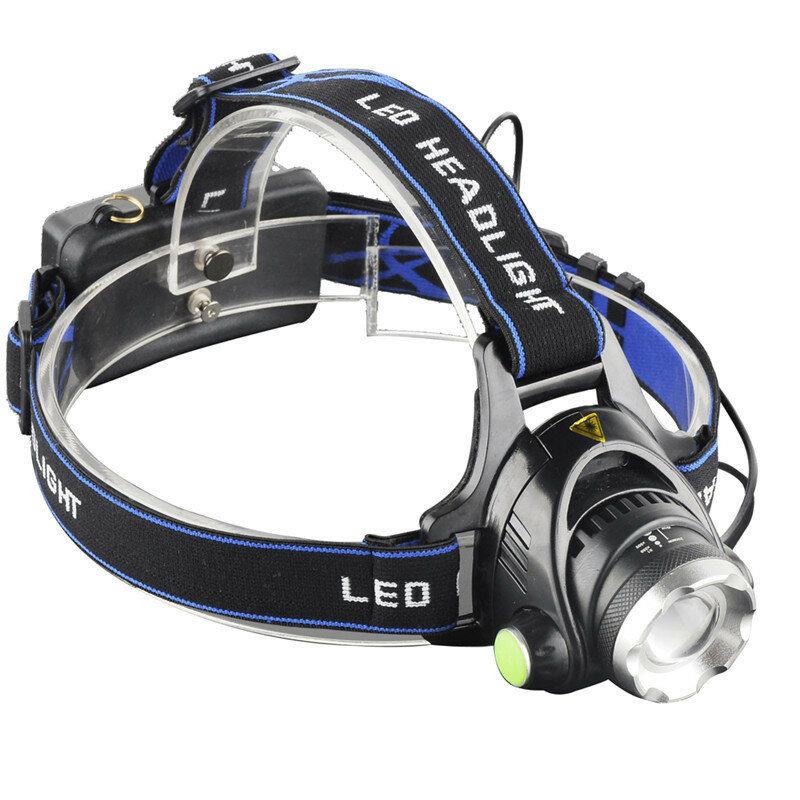 XANES® 568D 650LM T6 LED Far Su Geçirmez 3 Mod Teleskopik Zumlu Şarj Edilebilir Kampçılık Bisiklete binme Işık