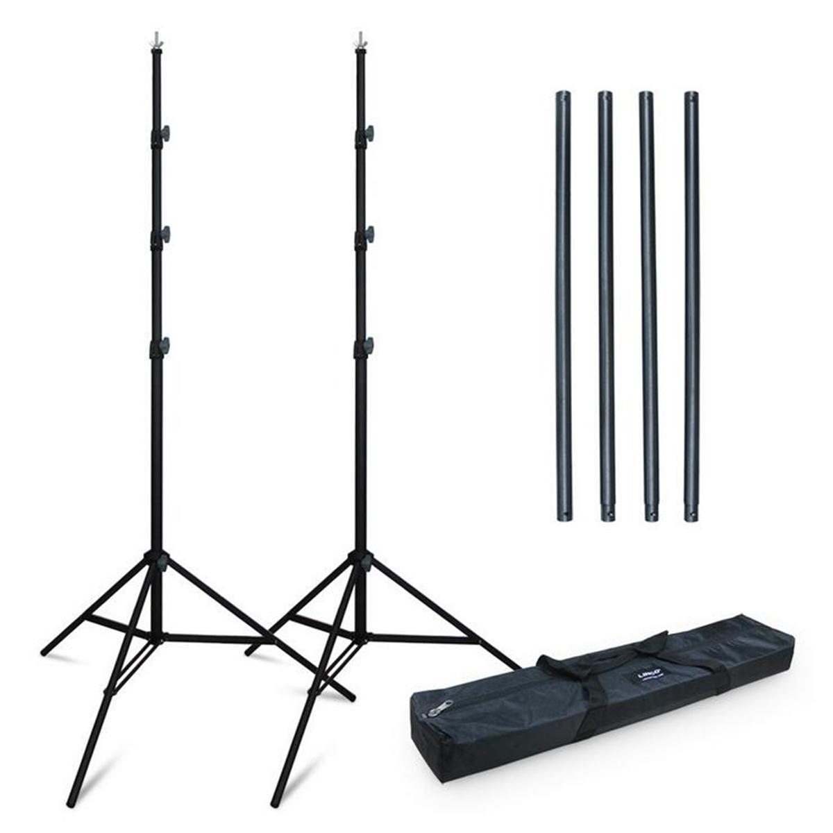 3x2,8m Einstellbare Faltbare Fotografie Hintergrund Ständer Stativ Unterstützung Portable Studio Backdrop Kits