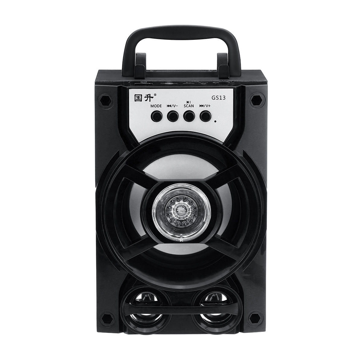 Portable bluetooth Subwoofer Speaker TF Card U Disk Music Player FM Radio Microphone for Meeting Dance Party Lecture