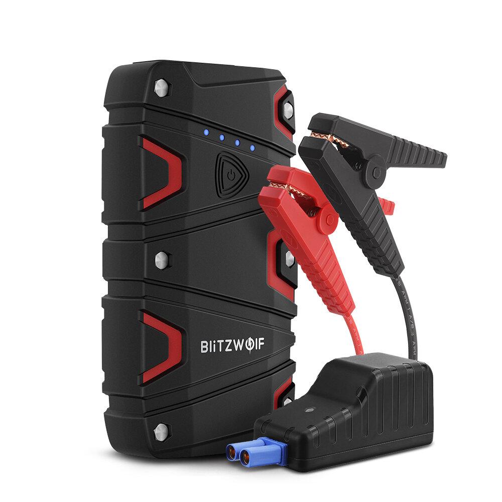 BlitzWolf® BW-JS1 Avviatore portatile per salto da auto 12000 mAh 800A Emergenza Batteria Booster Power Bank impermeabile con porta di ricarica USB QC3.0 da LED torcia elettrica