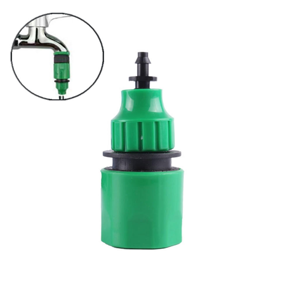 10Pcs Garden Water Quick Coupling 1/4 Inch Hose Quick Connectors Garden Irrigation Pipe Connectors Homebrew PVC Watering Tubing Fitting