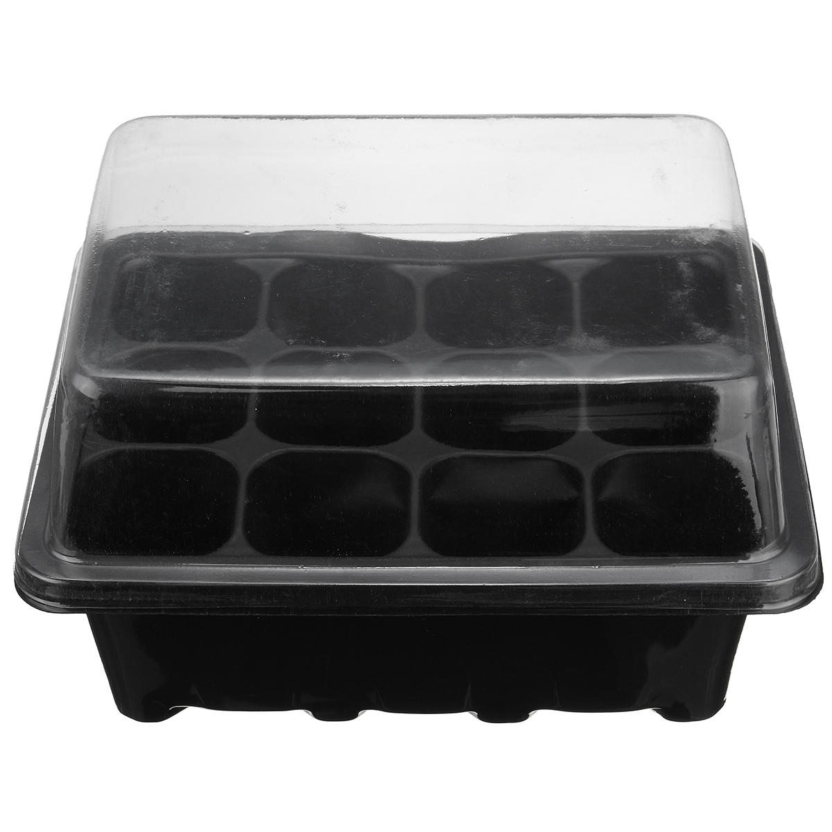 12 Cell Plug Propagation Tray Planting Seed Cloning Insert Clone Grow Box Kit