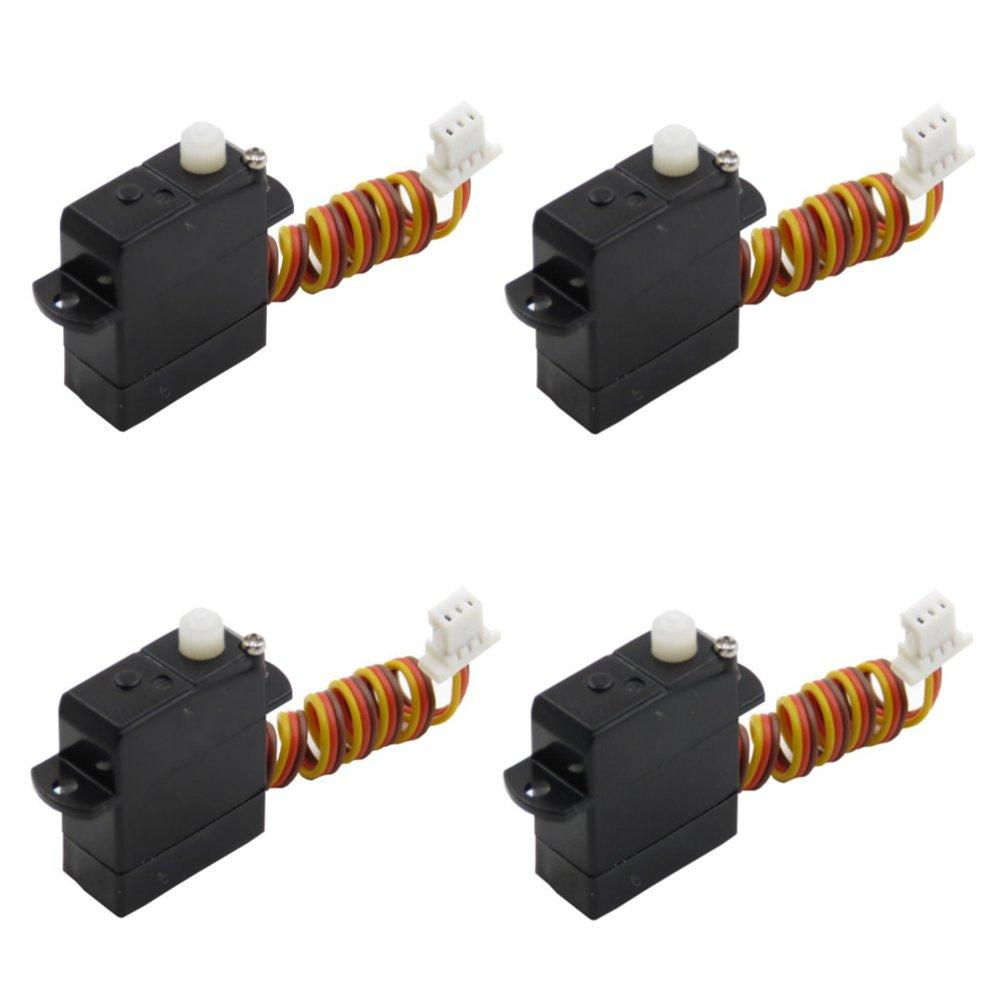 4PCS TY Model 1.7g Servo With JST 1.0mm Plug Compatible Spektrum 6400 Series Receiver For RC Airplane
