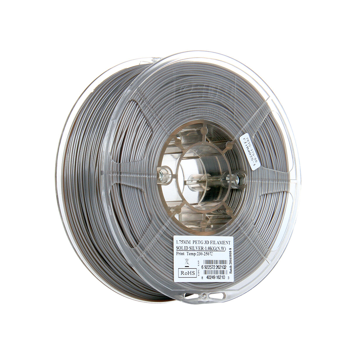 eSUN® 1.75mm 1KG/Roll PTEG Filament with Solid Silver/Yellow/Blue/Red/Black/White/Purple  Color for 3D Printer