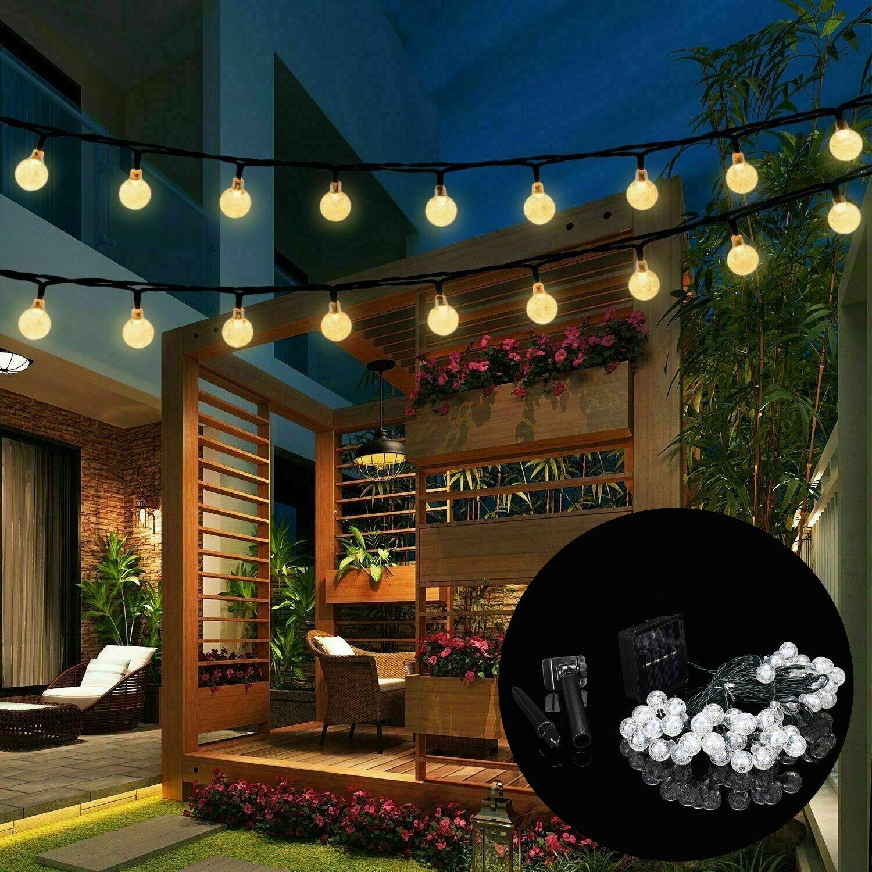 9.5 M 50 LED Solar Peri Ampul Dize Işık 8 Modu Outdoor Kapalı Bahçe Düğün Tatil Lamba Dekor