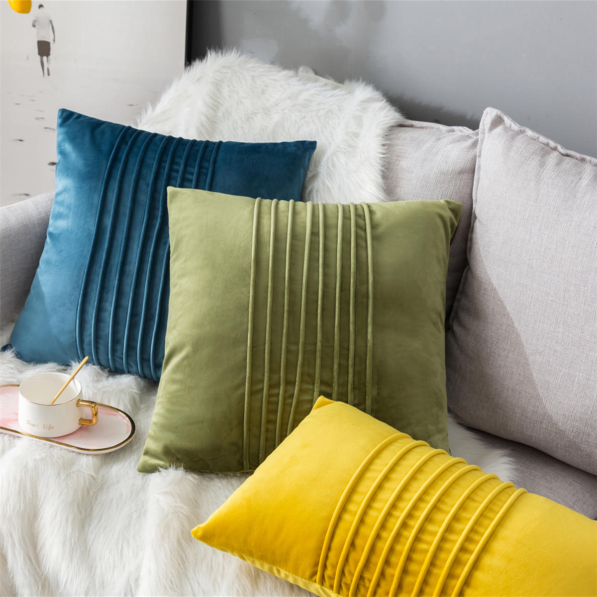 Square/Rectangle Throw Pillow Cover Cushion Seat Sofa Waist Case Home Decor Pillow Case