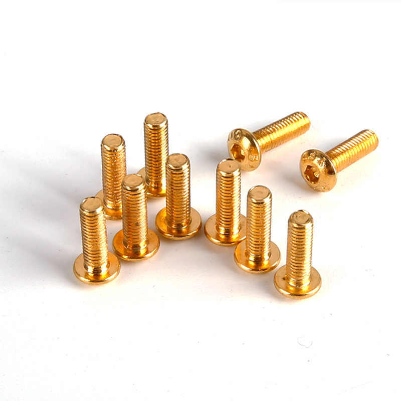 20PCS/Pack Gold YFS 12.9 Grade M3 Screw M3*6 M3*8 M3*10 M3*14 M3 *12 6mm 8mm 10mm 12mm 14mm Hexa Socket Head Cap Screws SHCS for FPV Drone