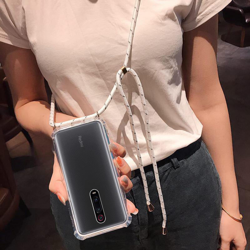 Bakeey Şeffaf Darbeye İpli Kolye Ile Rope Koruyucu Kılıf Için Xiaomi Mi 9 T / Xiaomi Mi9 T PRO / Xiaomi Redmi K20 / Xiaomi Redmi K20 PRO