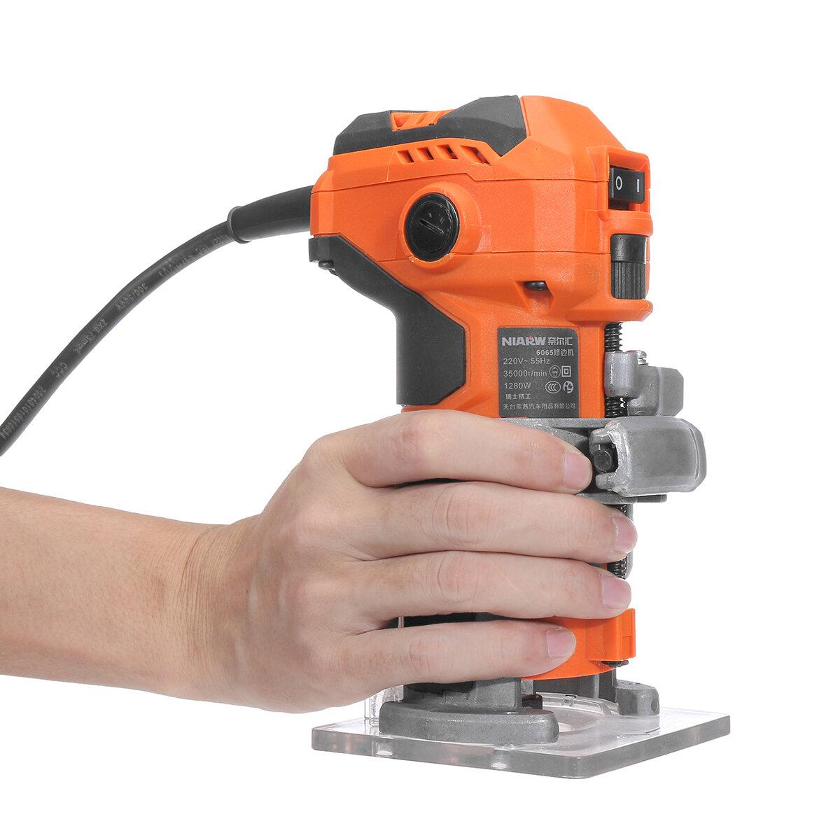 As juniores de madeira do router do laminador da mão do ajustador elétrico da mão de 1280W 35000r / min ajustaram-se