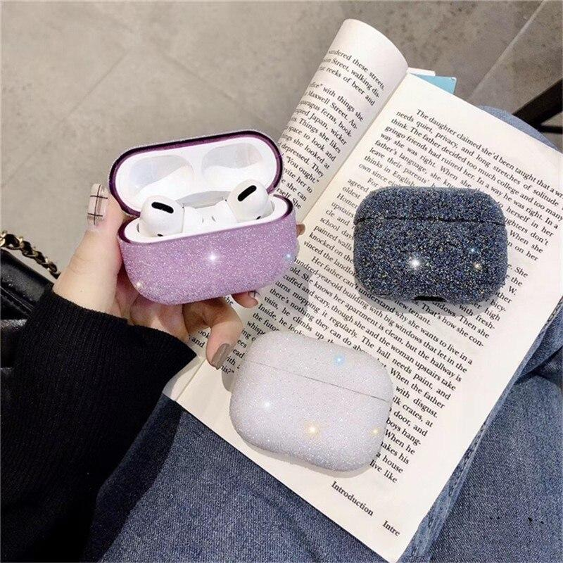 Bakeey Luxury 3D Simpatiche particelle opache Brillare Bling Paillettes Diamante Antiurto Anti-drop Auricolare Custodia per Apple Airpods 3 Airpods Pro 2019
