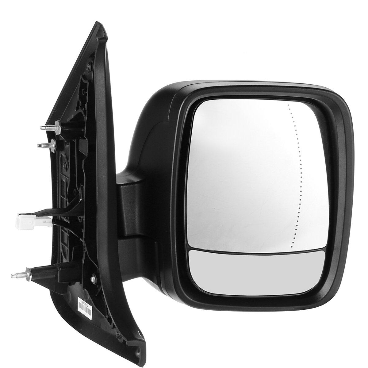 Car Right Electric Black Wing Mirror For Vauxhall Vivaro Renault Trafic Van 2015-18