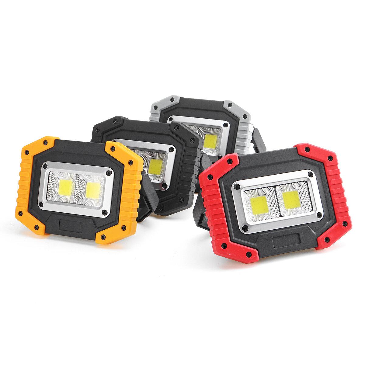 XANES® 24C 30W COB LED-werklamp Waterdicht Oplaadbare LED-schijnwerper voor Outdoor Camping Wandelen Vissen Noodauto Repareren