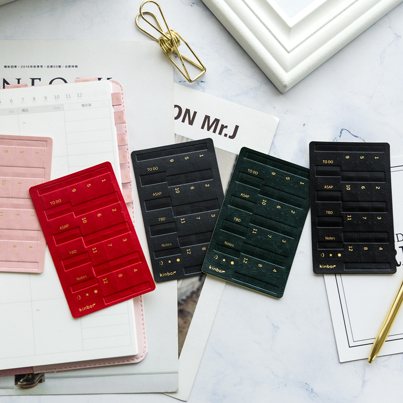 Kinbor 1 Pcs Colored Index Sticker PU Leather Creative Bookmark Notes Notebook Notemark Office School Supplies Stationery from XIAOMI YOUPIN