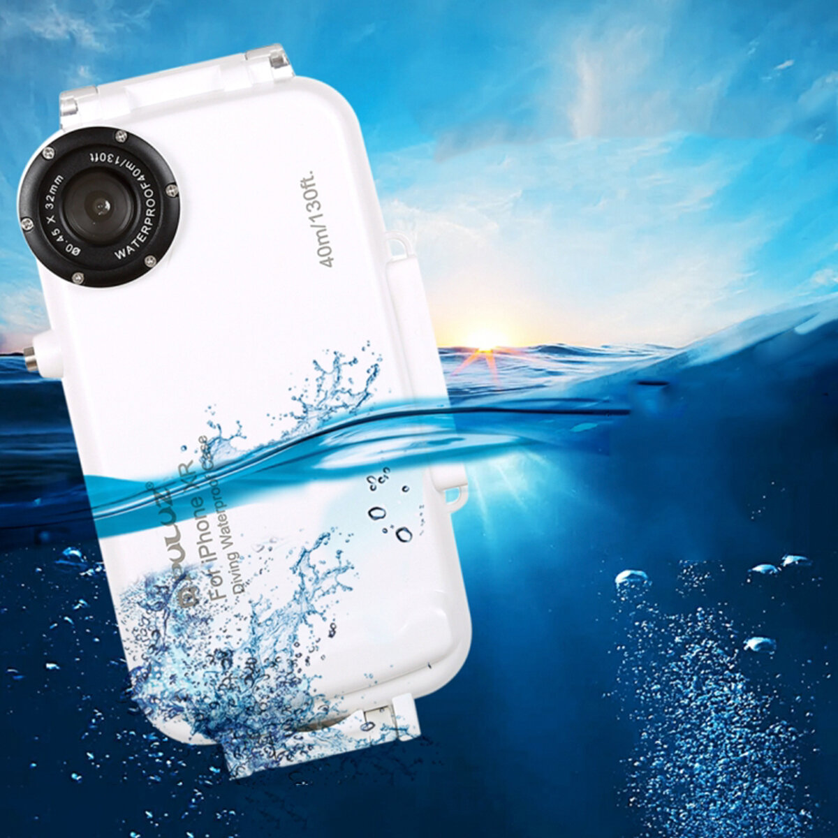 PULUZ 40m Waterproof Diving Shell Shockproof Protective Case for iphone XR XS Max iP7 Plus&8 Plus