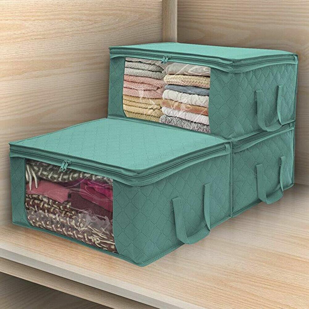 Нетканый Space Saver Одежда Одеяло Хранение Одеяло Сумка Коробка Органайзер Портативный