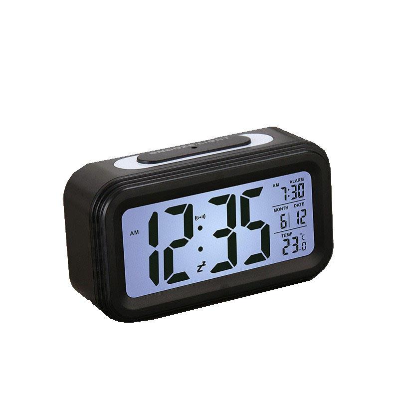 Digital Alarm Clocks Student Clocks Large LCD Display Snooze Electronic Kids Clocks Light Sensor Nightlight Office Table Clocks