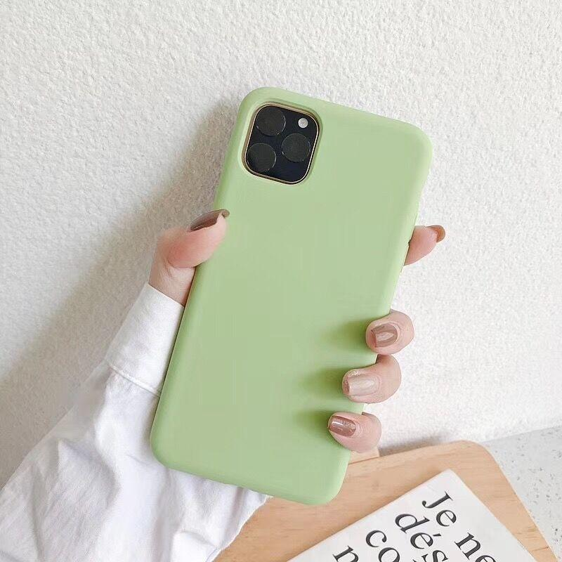 Bakeey Smooth Shockproof Soft Liquid Silicone Rubber Back Cover Protective Case for iPhone 11 Series