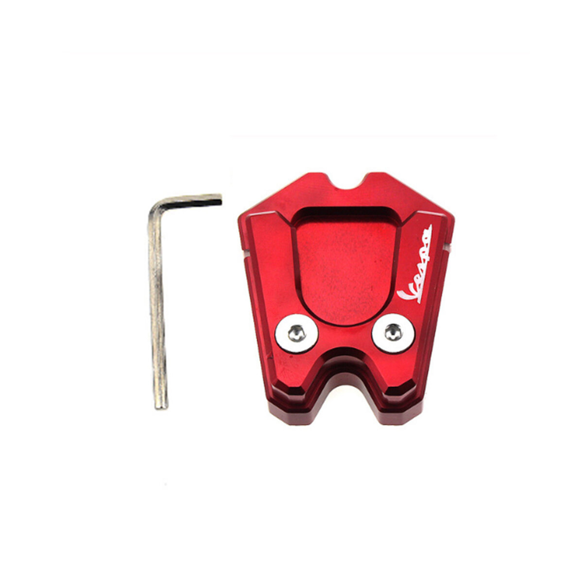 Motorcycle Kickstand Foot Side Stand Enlarge Extension Pad For Vespa Gts Gtv