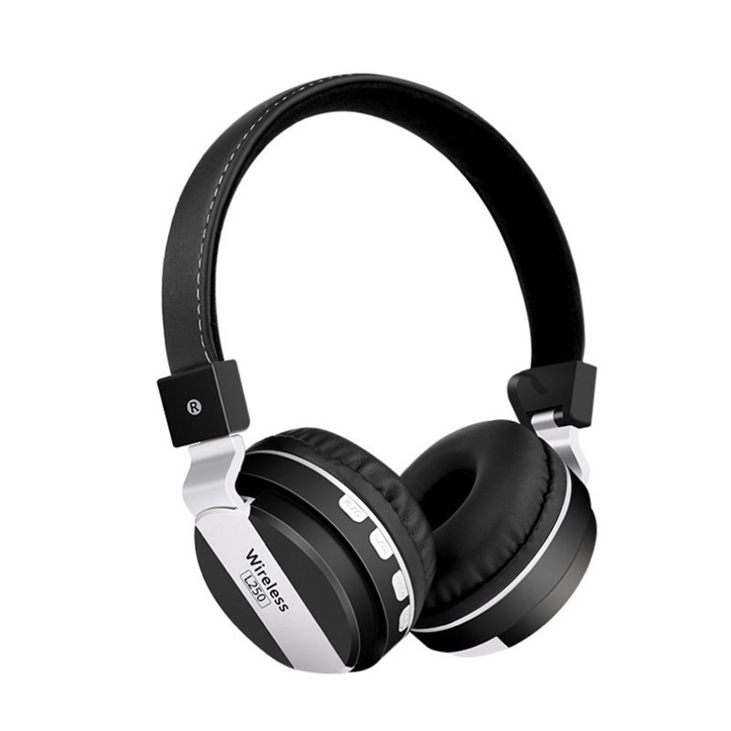 L250 bluetooth4.2 + USB Wired Bilateral Stereo Gaming Headphone Adjustable Rechargeable Monitor Headset Support TF Card Reading for Sport Music