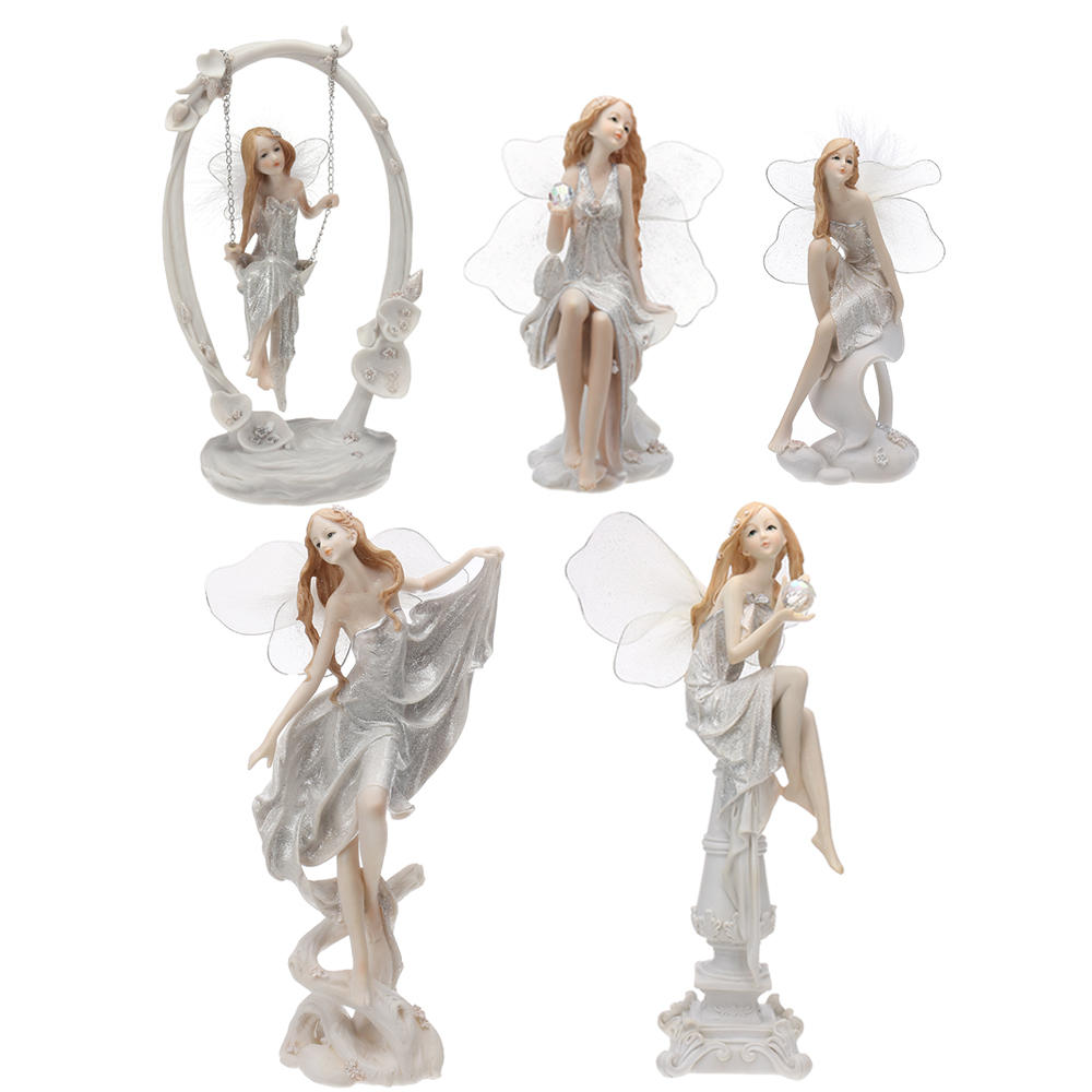 Angel Figurines Beautiful Fairy Ornament Statue Home Decorations European Style Resin Gifts