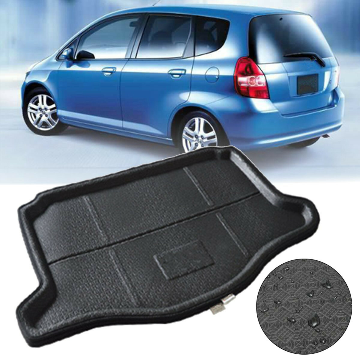 Car Rear Trunk Boot Cargo Mat Liner Tray Waterproof For Honda Jazz Fit 2014-2016