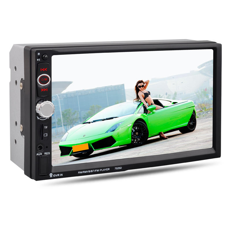 7 inch 2 DIN Universal Car Stereo Radio MP5 Player TFT Touch Screen Hands-free bluetooth MP3 Rear-View camera With Remote Control USB FM AUX