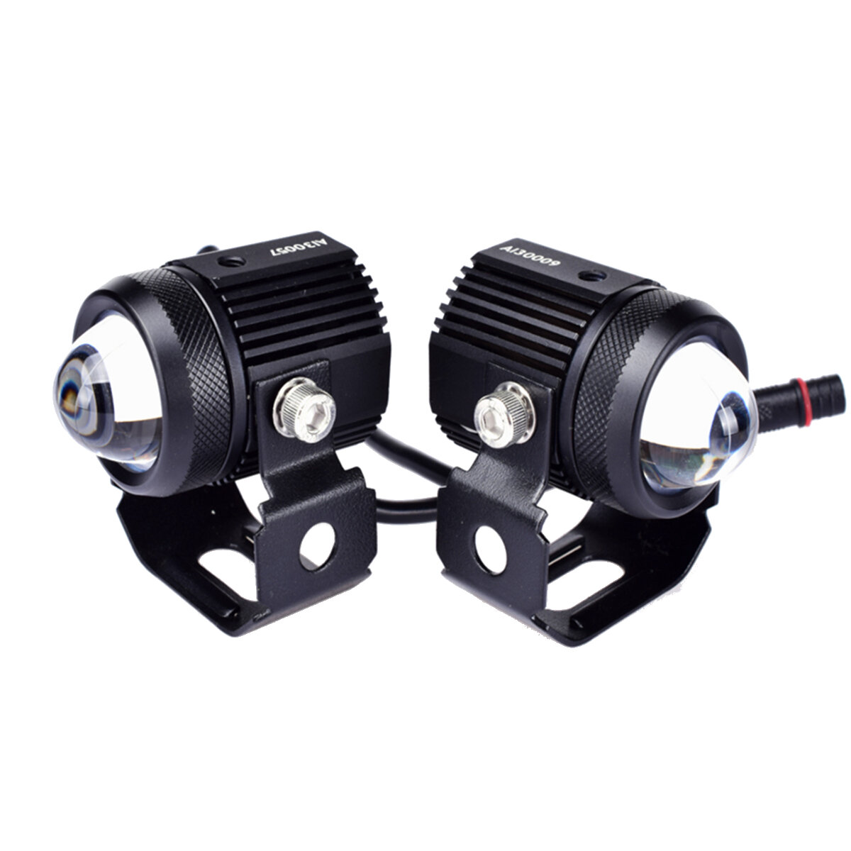 9V-24V 15W BA20D LED Headlights Work Fog Light Hi/Low Beam Dual Color H4 T19 Waterproof For Motorcycle ATV SUV Tractor Yacht Boat Truck Car