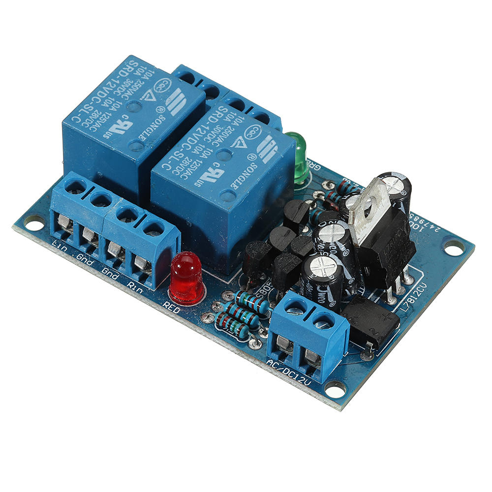 Speaker Power Amplifier Board Dual 15A Relay Protector Boot Delay and DC Detection Protection Module