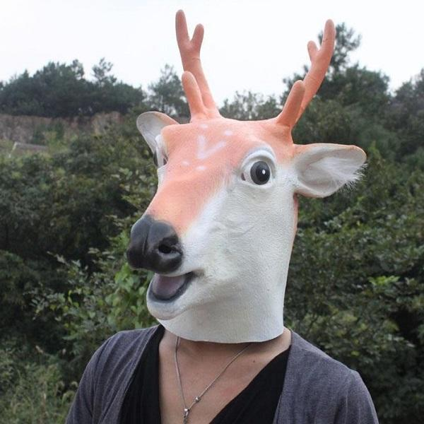 Dance Performance Props Giraffe Headgear Halloween Deer Mask