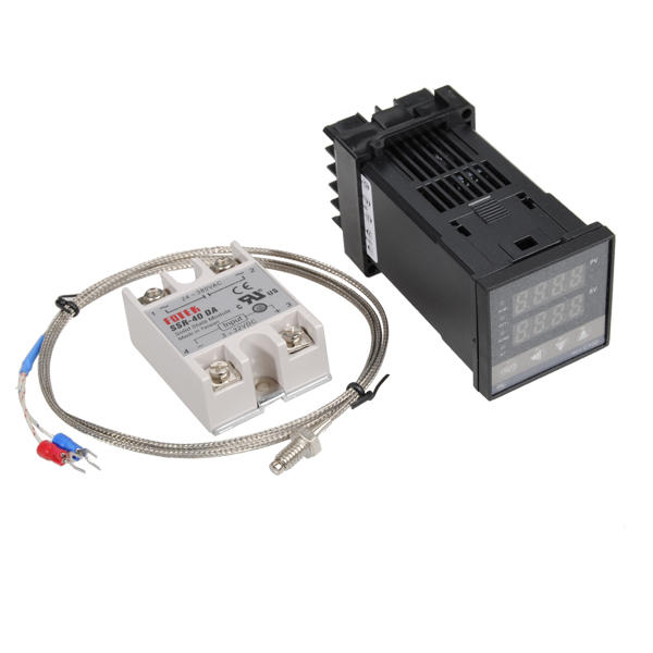 Excellway® REX-C100 110-240V 1300 Degree Digital PID Temperature Controller Kit with 400 Degree Probe