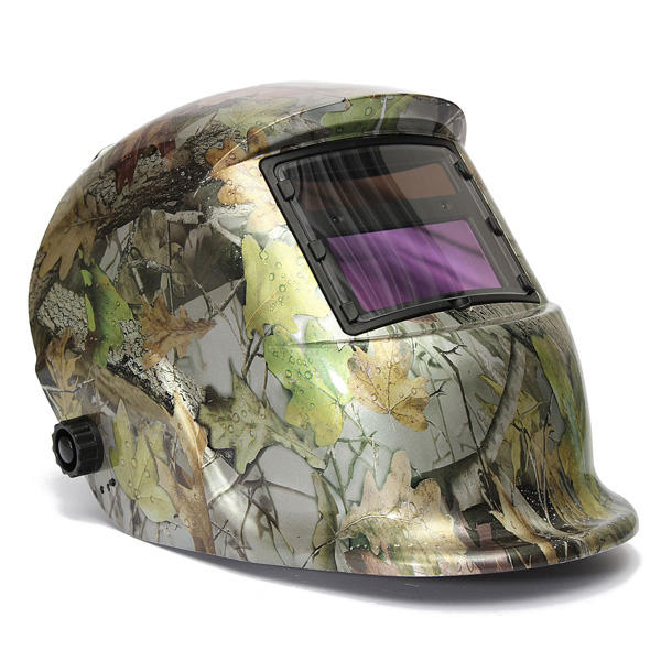 Adjustable Auto Darkening Solar Welding Helmet Mask Forest Camo