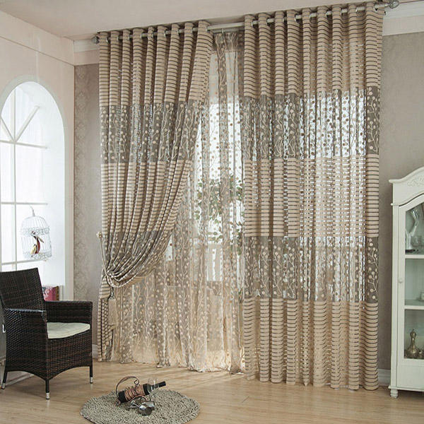100x200cm Flax Yarn Window Screening Balcony Bedroom Breathable Window Curtain