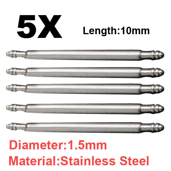 8- 37mm 5X Watch Band Stainless Steel Spring Bars Strap Link Pin Watchmaker