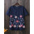 Women Casual Flower Embroidered Cotton Short Sleeved T-shirts