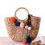 Summer Beach Bag Straw Hairball Tassel Sac à main pour femme