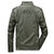 Mens Multi-pocket Faux Leather Stand Collar Jacket Solid Color Coat