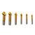 Drillpro 6 قطع 3 الفلوت التيتانيوم الشطب 90 درجة الشطب نهاية مطحنة القاطع وسع مثقاب