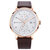 MINI FOCUS MF0052G Leather Strap Men Watch Casual Style Luminous Hand Quartz Watches