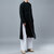 Mens Long National Chinese Style Vintage Crew Long Sleeve Loose Fit Casual Jacket