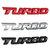Turbo 3D metalen auto stickers belettering badge sticker voor auto lichaam achter achterklep