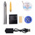 5V 8W Mini Solder Iron Pen Welding Tool Set USB Charging Soldering Iron with Strong Suction Tin Line Tin Wire Rosin Soldering Stand Sponge