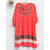Women Cotton Loose Half Sleeve Embroidered Dress