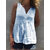 Women Solid Color Button V-Neck Sleeveless Tank Tops