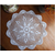 37cm Round White Pure Cotton Yarn Hand Crochet Lace Doily Placemat Tablecloth Decor