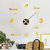 Emoyo JM026 Creative Large DIY Wall Clock Modern 3D Wall Clock With Mirror Numbers Stickers For Home Office Decorations