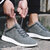 Men Breathable Hollow Out Cowhide Wear Resistant Running Sneakers
