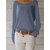 Women Pullover Long Sleeve Knit Sweater Casual Loose Blouse