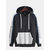 Mens Fashion Patchwork Drawstring Letter Hooded Casual Sweatshirt