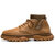 Men Soft Cowhide Weave Spicing Non-Slip Casual Ankle Boots